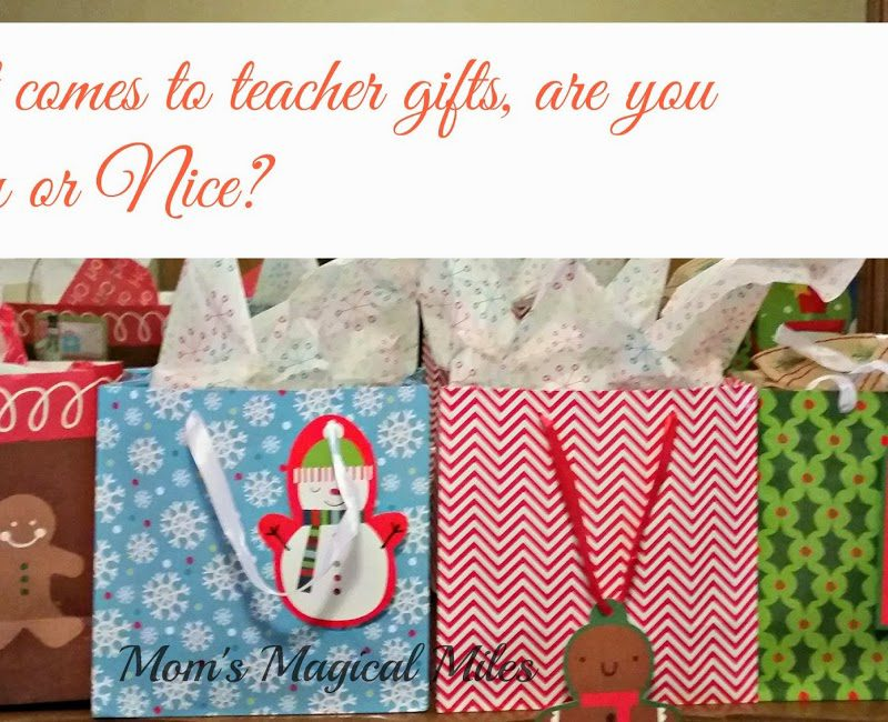 Teacher Gifts:  Are You Naughty or Nice?