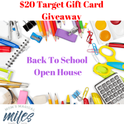 Back to School open house days are stressful! I'm giving away a $20 Target gift card to make things easier!