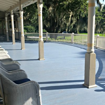 The front porch at The Jekyll Island Club is the perfect place to relax and appreciate the view!