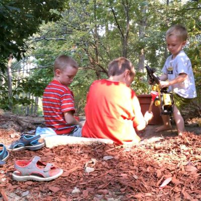 Kids of all ages love sandboxes and dirt!