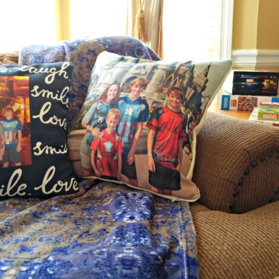 Warm up your room this winter by adding comfy pillows with pictures that warm your heart!
