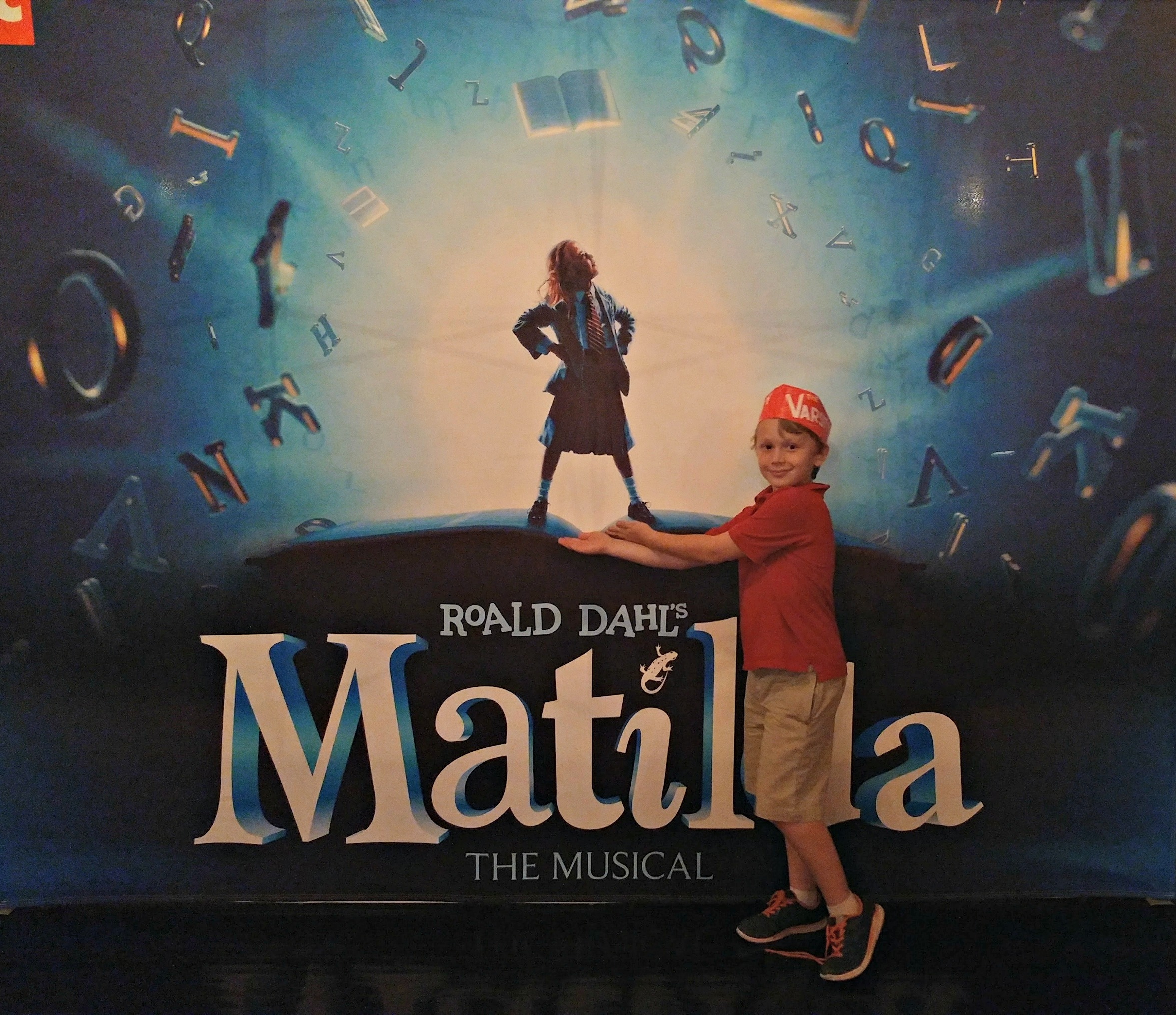 Matilda The Musical is a hit! Giggles from kids and adults alike.