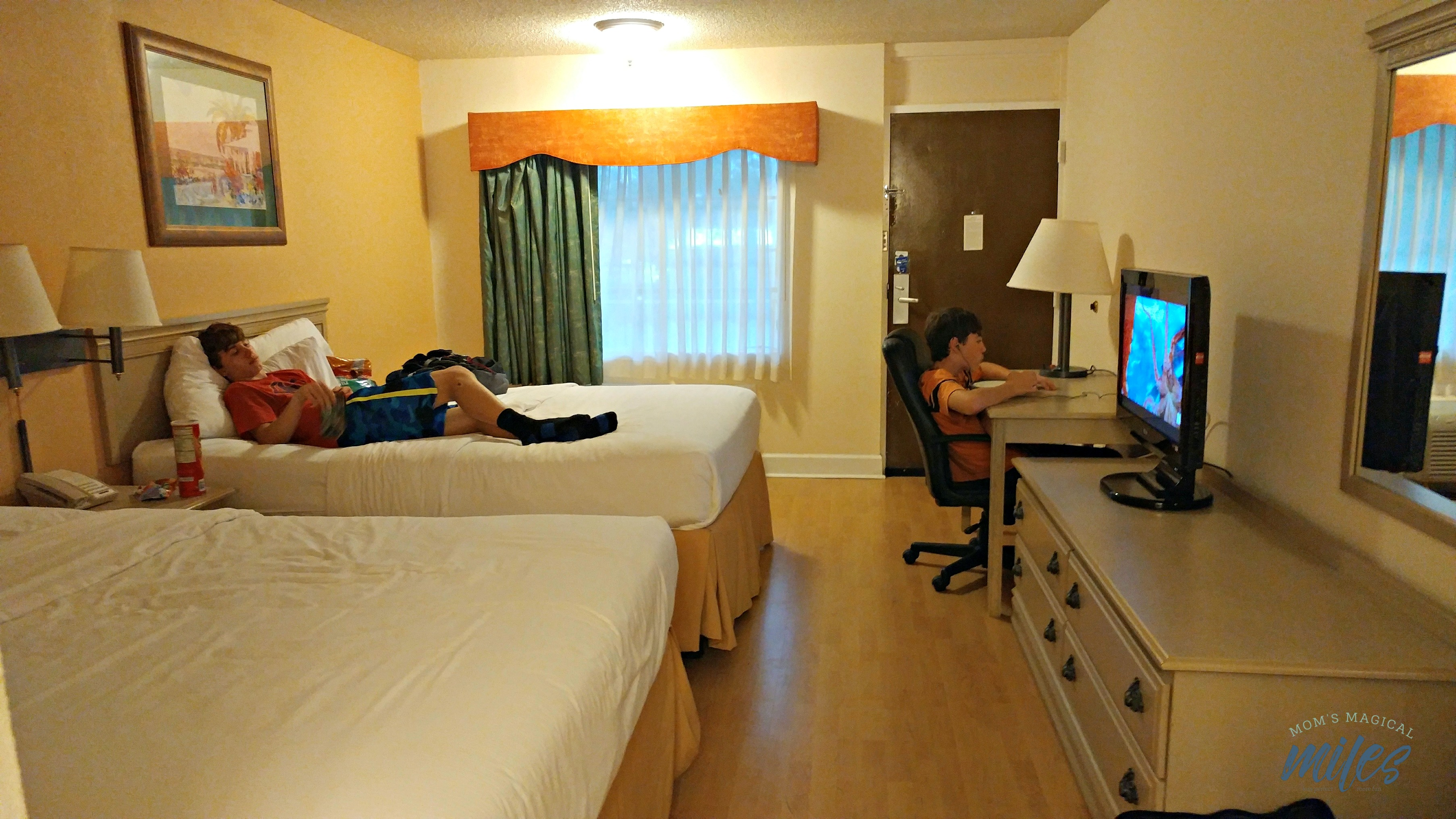 The bedroom area at The Cumberland inn offered enough space for a family.