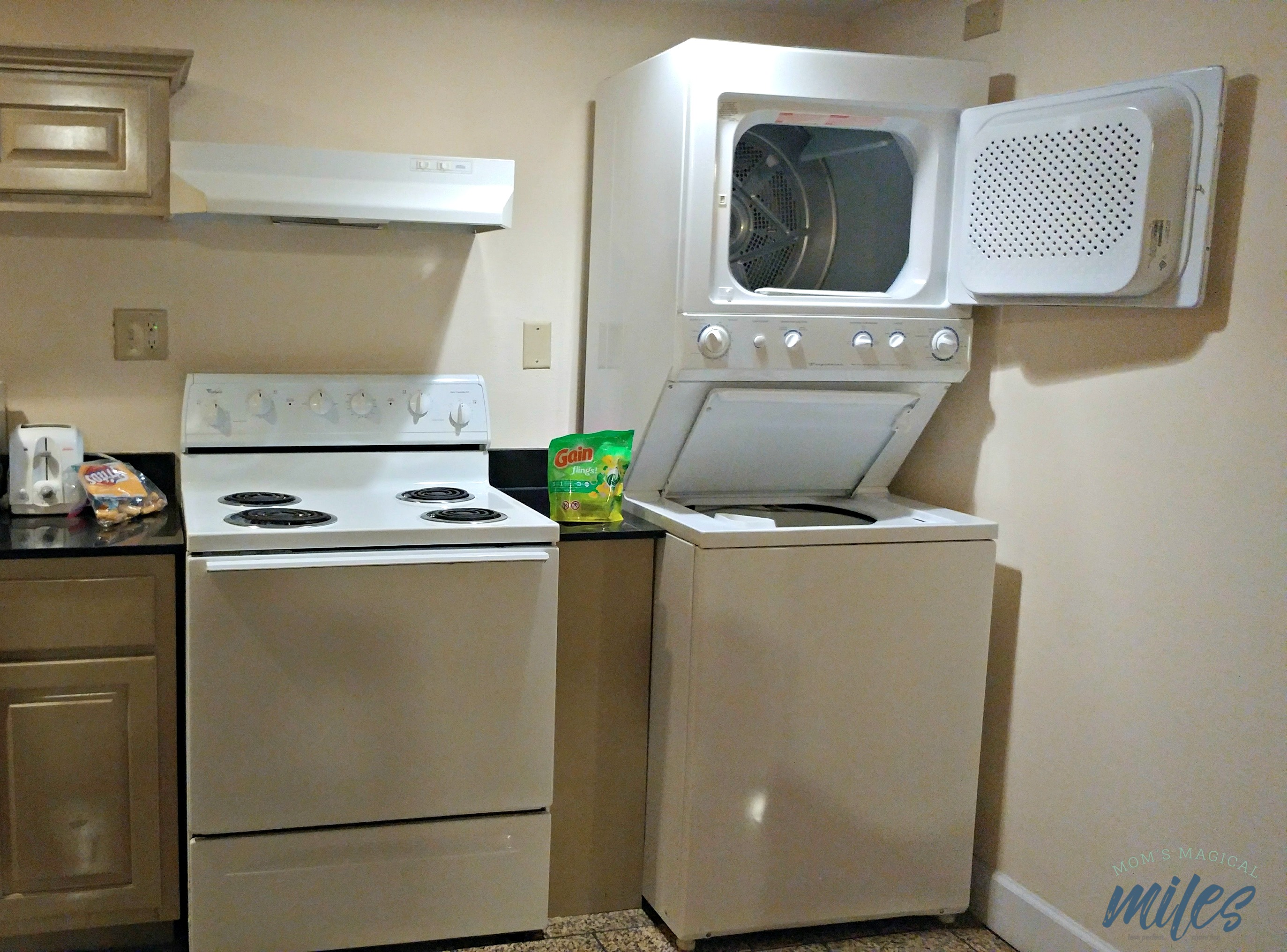 The in-room washer/dryer at the Cumberland Inn in St. Mary's was an amazing feature.
