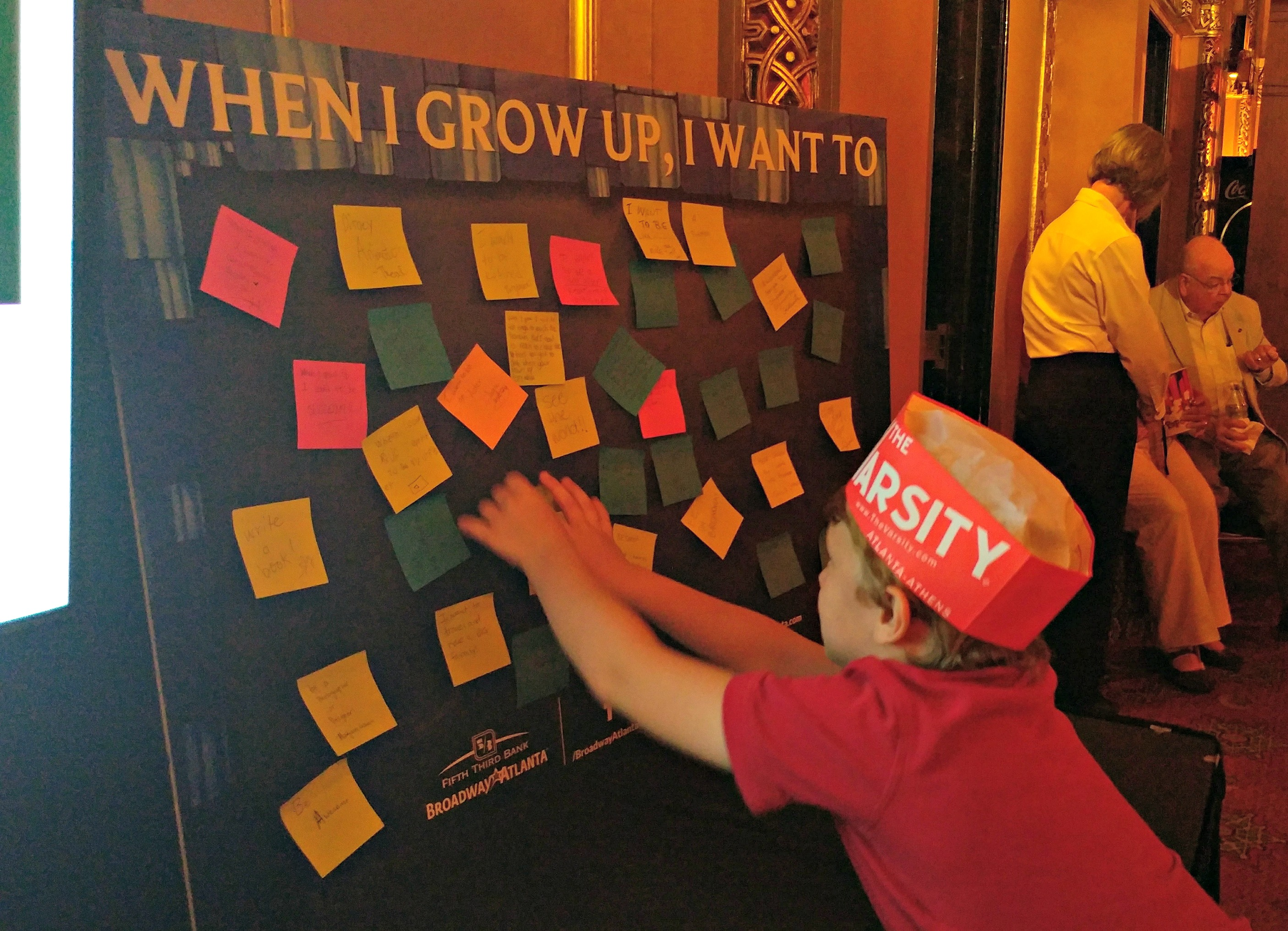 "If you see Matilda The Musical, be sure to look for the ""When I Grow Up"" board!"