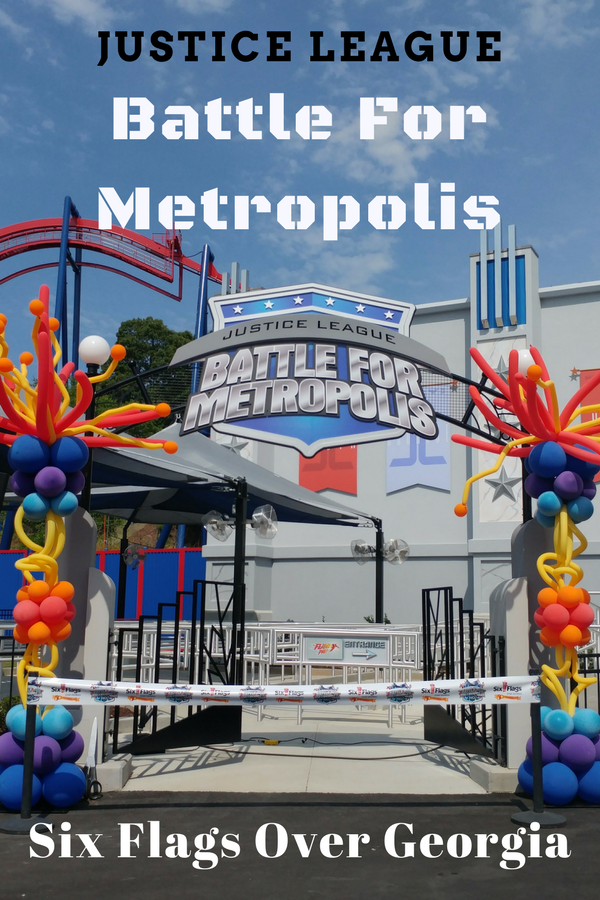 The New Justice League Battle For Metropolis at Six Flags Over Georgia is a must for any superhero fan! The ride officially opens May 26th, 2017.