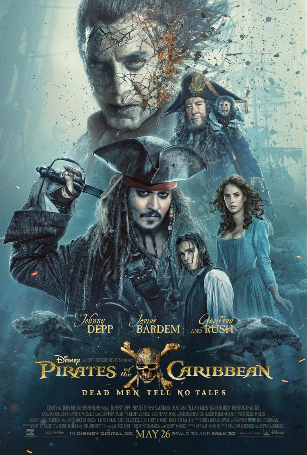 The new Pirates of the Caribbean: Dead Men Tell No Tales is a hit! The movie is rated PG-13 and opens in theatres May 26th.