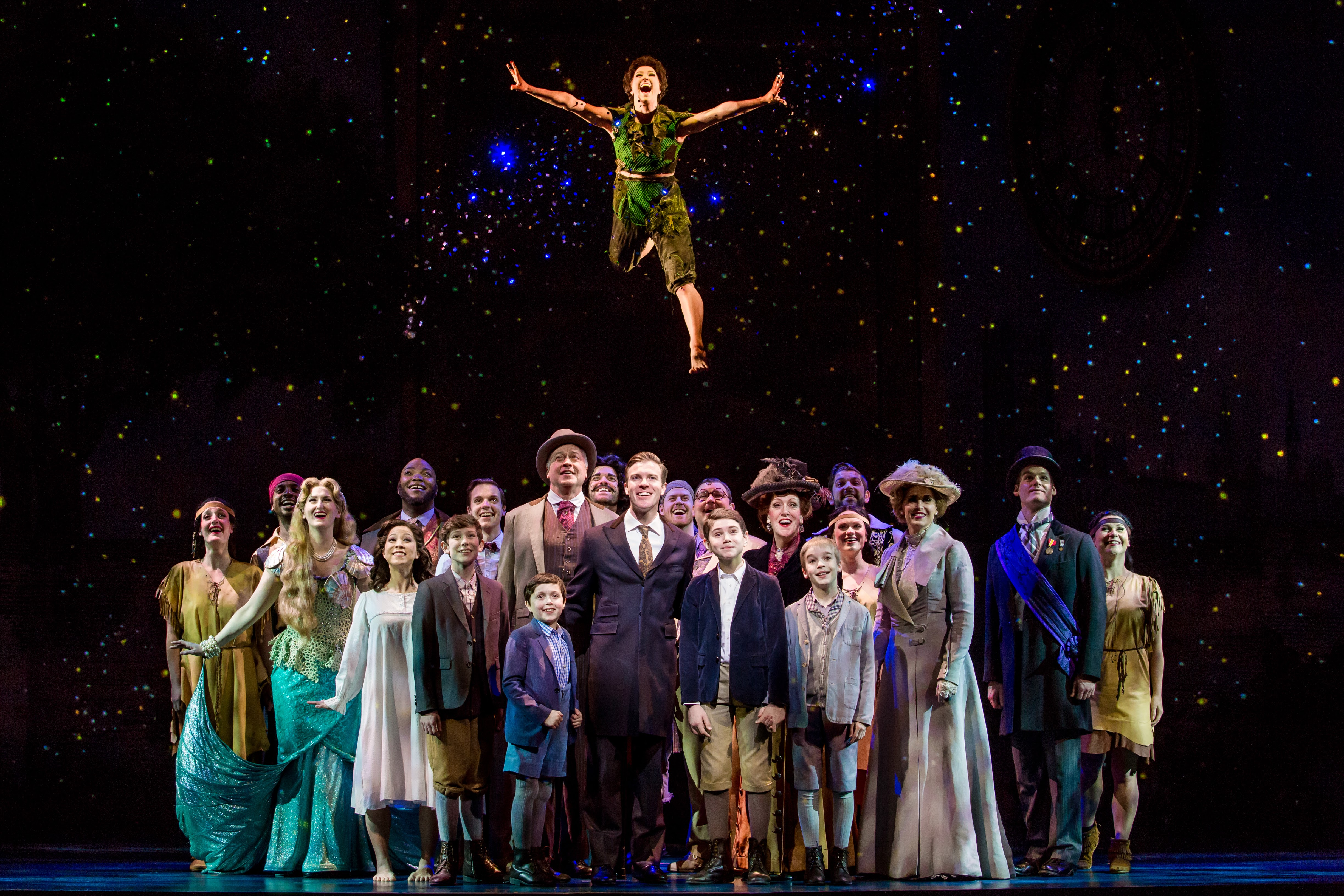 The cast of Finding Neverland! It's at the Fox Theatre in Atlanta through May 21st!