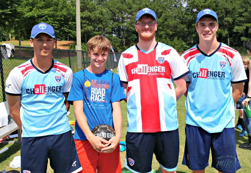 The coaches for Challenger Sports British Soccer camp are brought over from the U,K. and stay with host families.