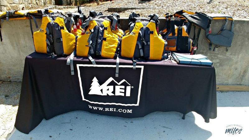 REI provides life jackets for all watercraft rentals.