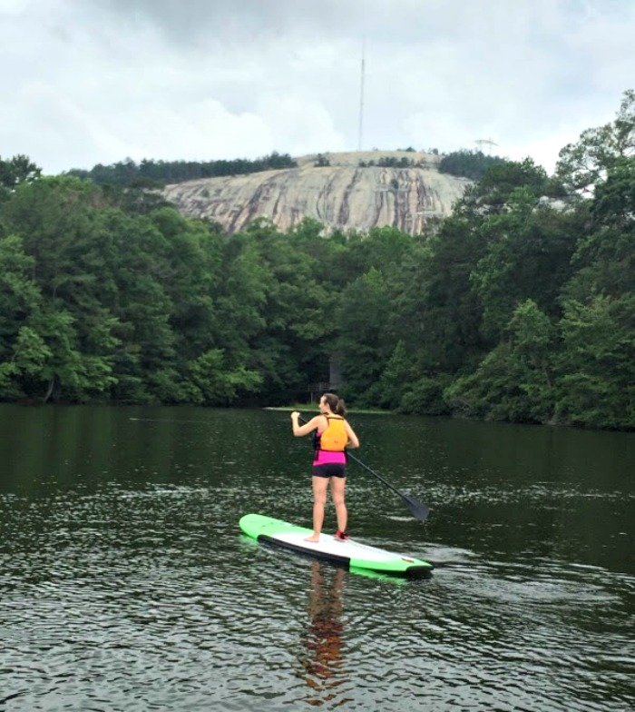 Renting watercraft from the REI Boathouse at Stone Mountain Park can be a peaceful and healthy way to spend an afternoon!
