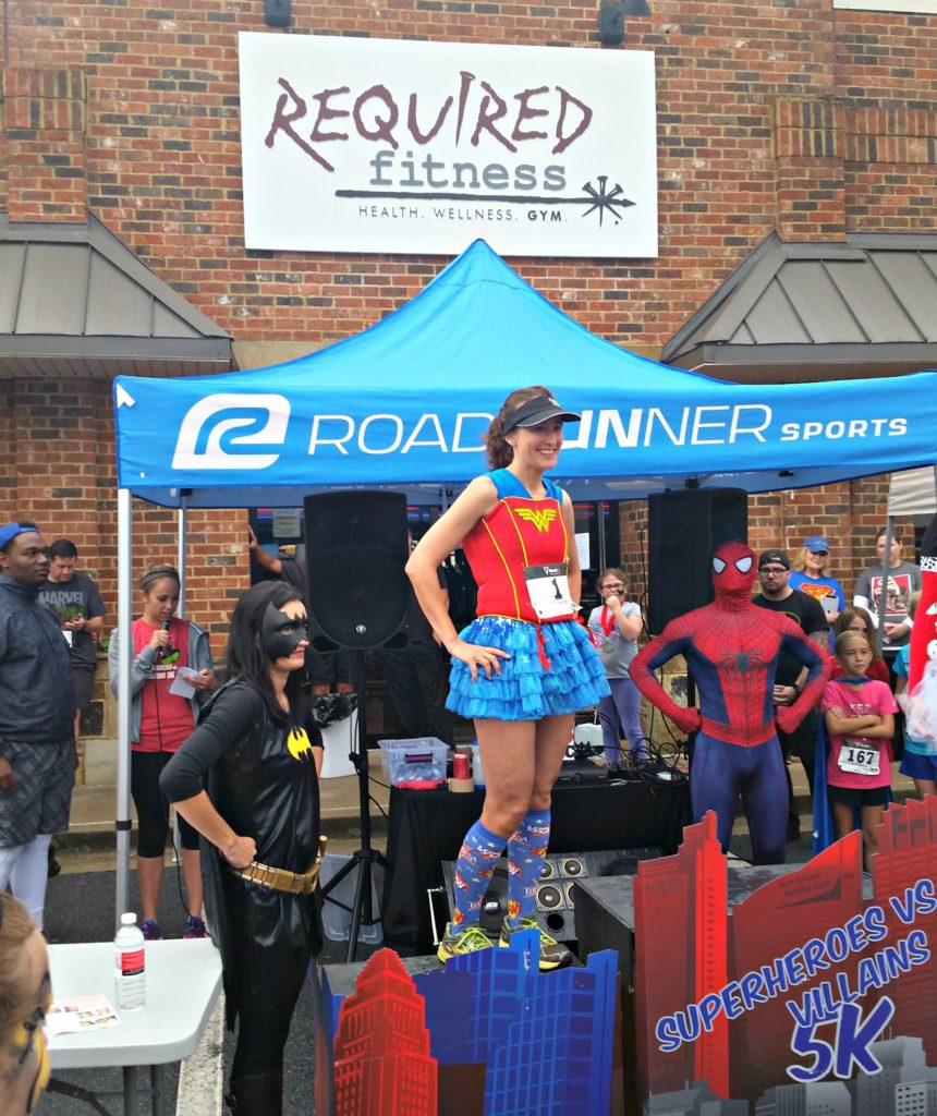 Channeling my inner Wonder Woman for the Superheroes vs. Villains 5K!