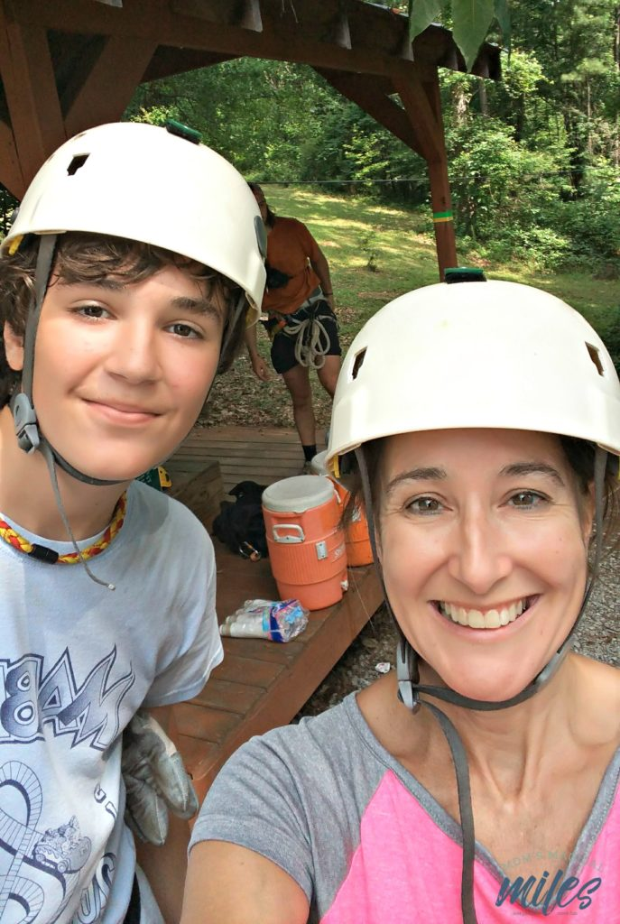 Level one of the Historic Banning Mills zipline completed!