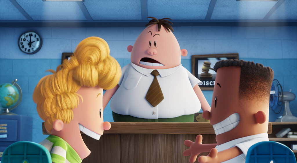 Principal Krupp tries to crush George and Harold's friendship in Captain Underpants : The First Epic Movie.
