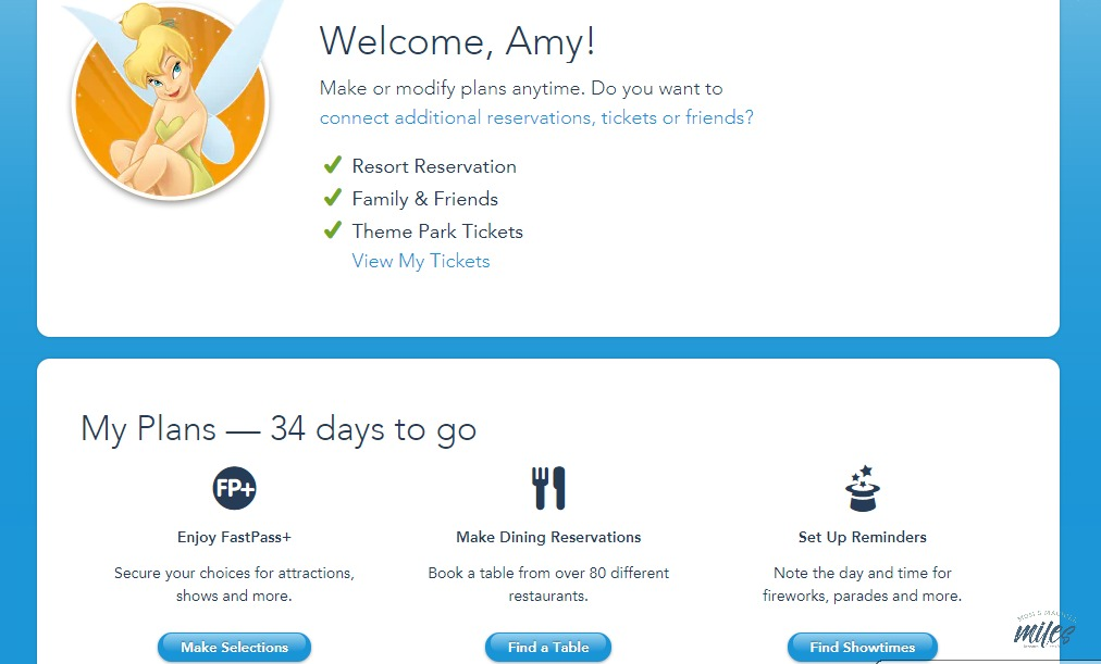 If you need Walt Disney World Planning tips, start with My Disney Experience! It's where all your vacation information is gathered.