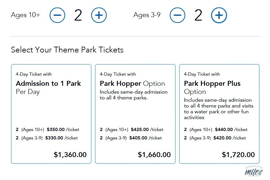 Confused by Disney ticket options? One of my Disney planning tips is to compare options on the WDW website.