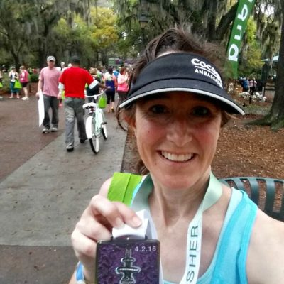 I love the finisher's medals at the Publix Savannah Women's Half Marathon!