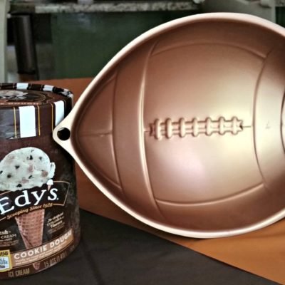 Are you ready for some football? If you want to be a MVP at your party, make this football ice cream cake and score big!