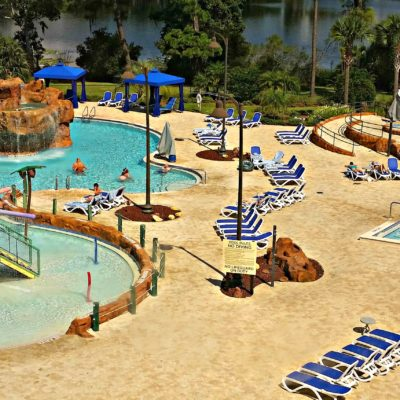 There are two pools at the Wyndham Lake Buena Vista for even more family fun.