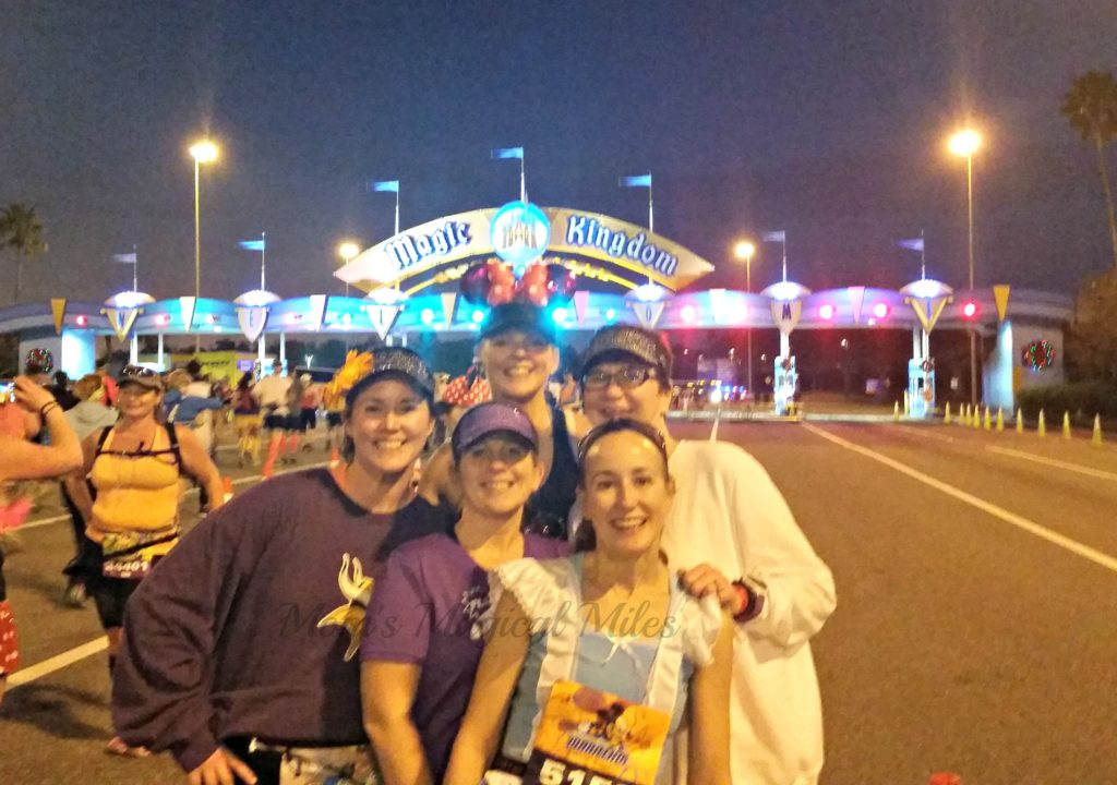 First stop on the Walt Disney World marathon course? The Magic Kingdom!