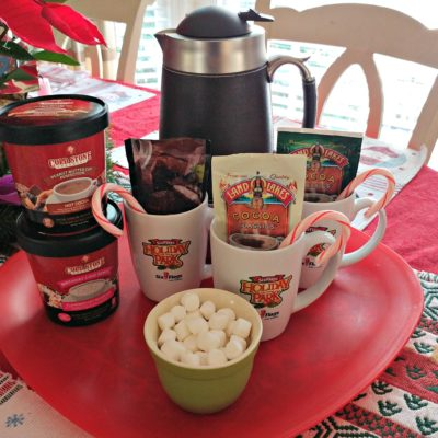 A rare snow day in Atlanta is a great excuse to get a little fancy with your hot chocolate! Set up a fun hot coca bar to surprise the kids when they're ready to thaw out.