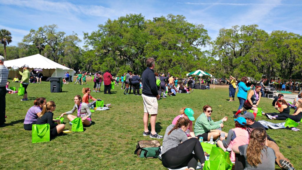 Take a load off after your Publix Savannah Half Marathon & 5K finish! Enjoy the music, drinks and vendors at Forsyth Park.