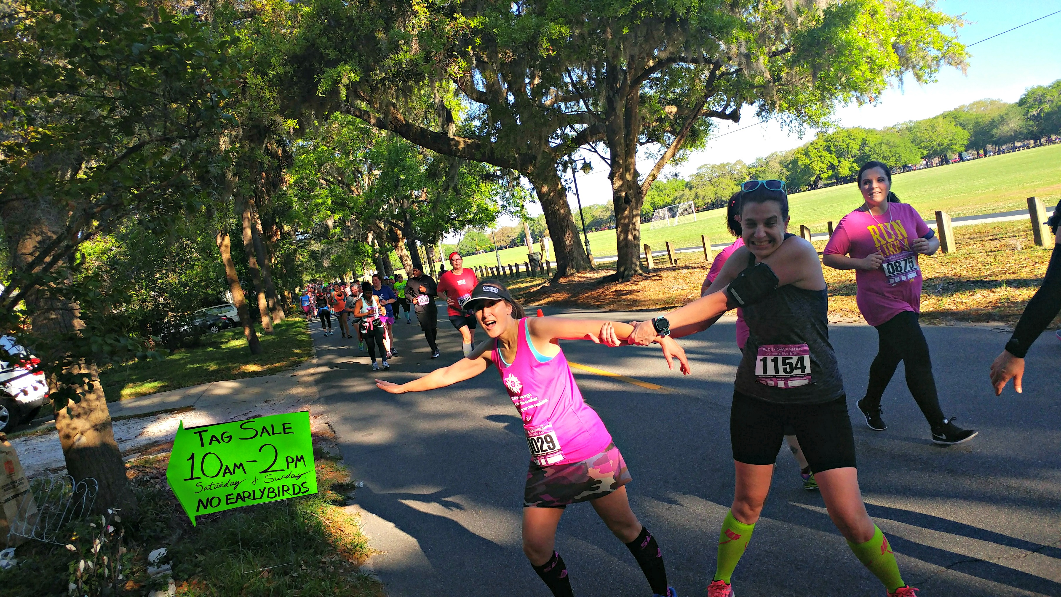 You can get easily distracted at the Savannah Women's Half Marathon.