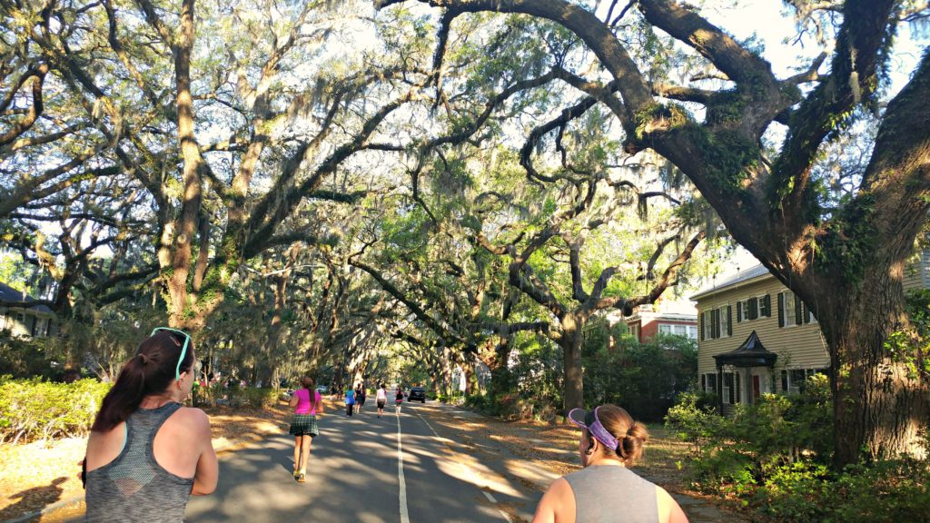 The views on course at the Savannah Women's Half can't be beat!