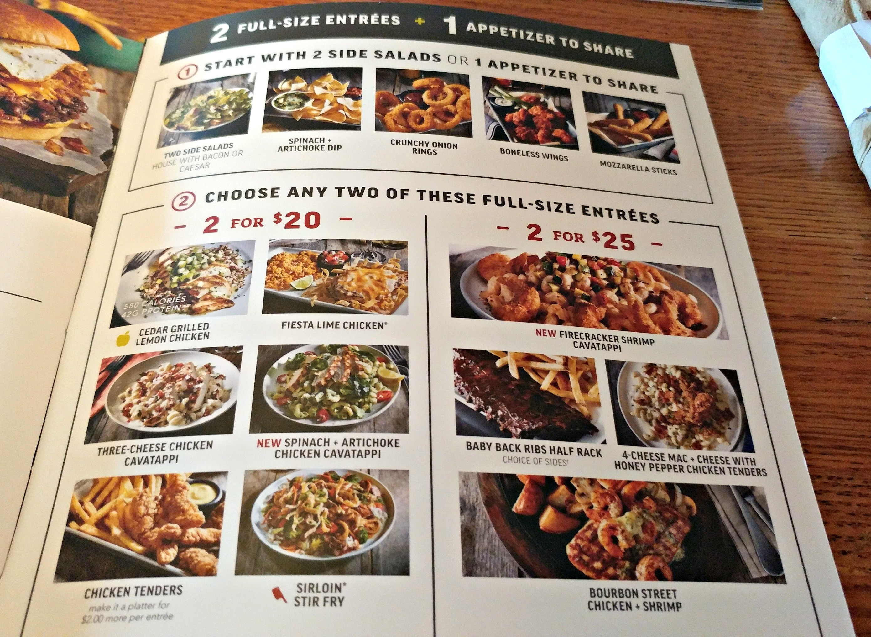 applebee's 2 for $20 menu review - mom's magical miles