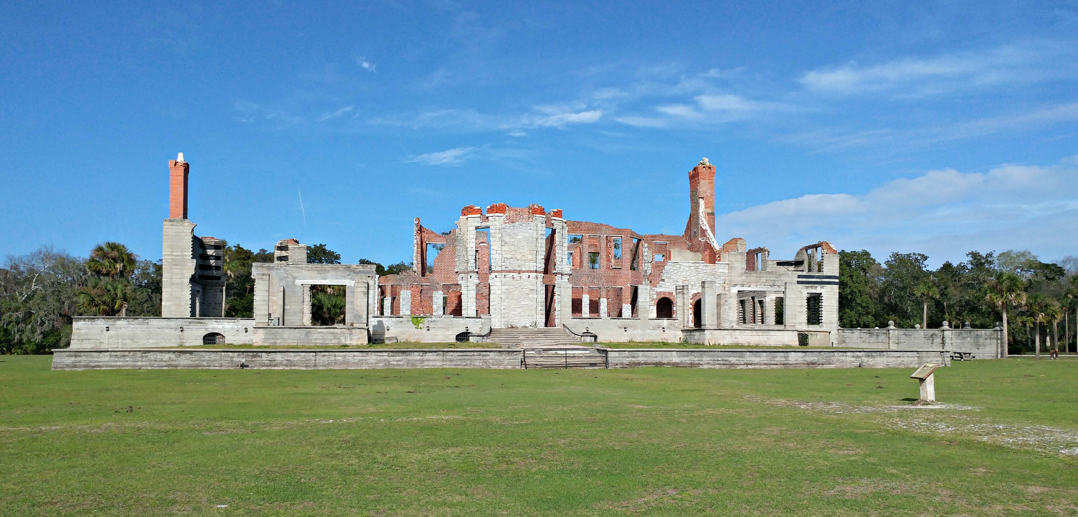 The ruins of Dungeness on Georgia's Cumberland Island are impressive, even in their devastation.