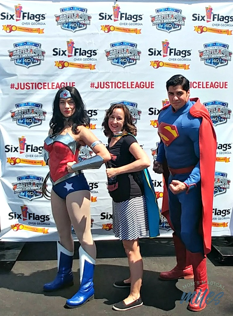I hear Superman and Wonder Woman hang out at the Hall of Justice a lot. Maybe you can catch them at Six Flags Over Georgia?