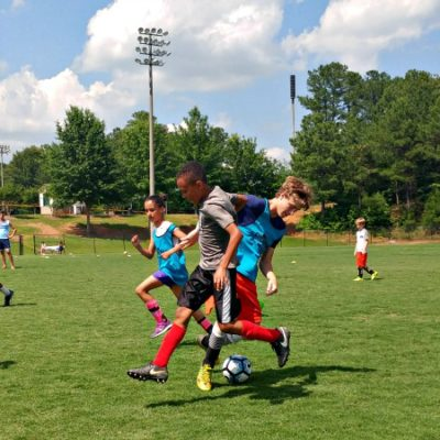Challenger Sports British Soccer Camp offers kids a chance to play with teammates of all ages.