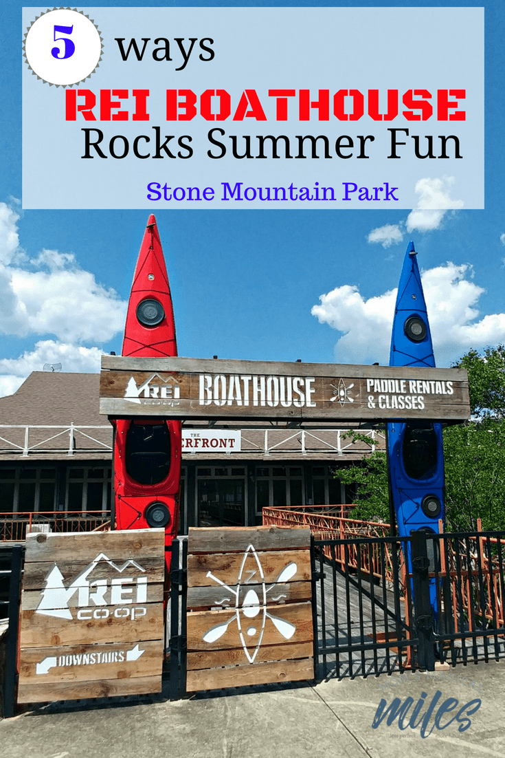The REI Boathouse is a great new addition to Stone Mountain Park! Rent kayaks, canoes and stand up paddleboards by the hour, day or weekend! Stone Mountain, Georgia