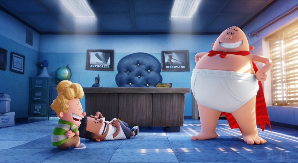Captain Underpants springs to action in Captain Underpants : The First Epic Movie.