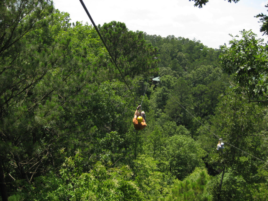 The Big Daddy Zipline at Historic Banning Mills is 1500 feet long!