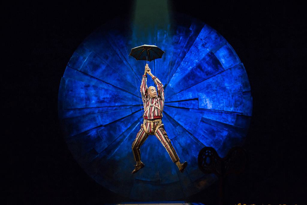 Cirque du Soleil LUZIA incorporates humor throughout the show.