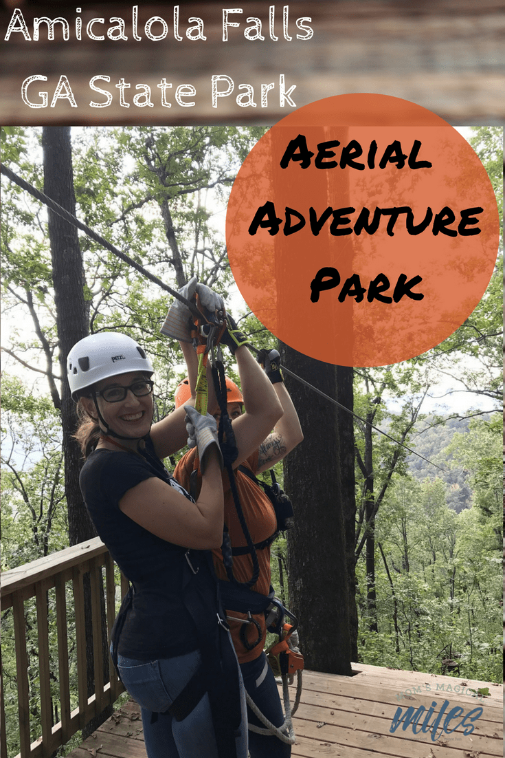 Level 2 of the Amicalola Falls State Park zipline experience left me all smiles!  Located in Dawsonville, GA, it's less than an hour's drive from Atlanta and the perfect way to take in fall colors, up close!