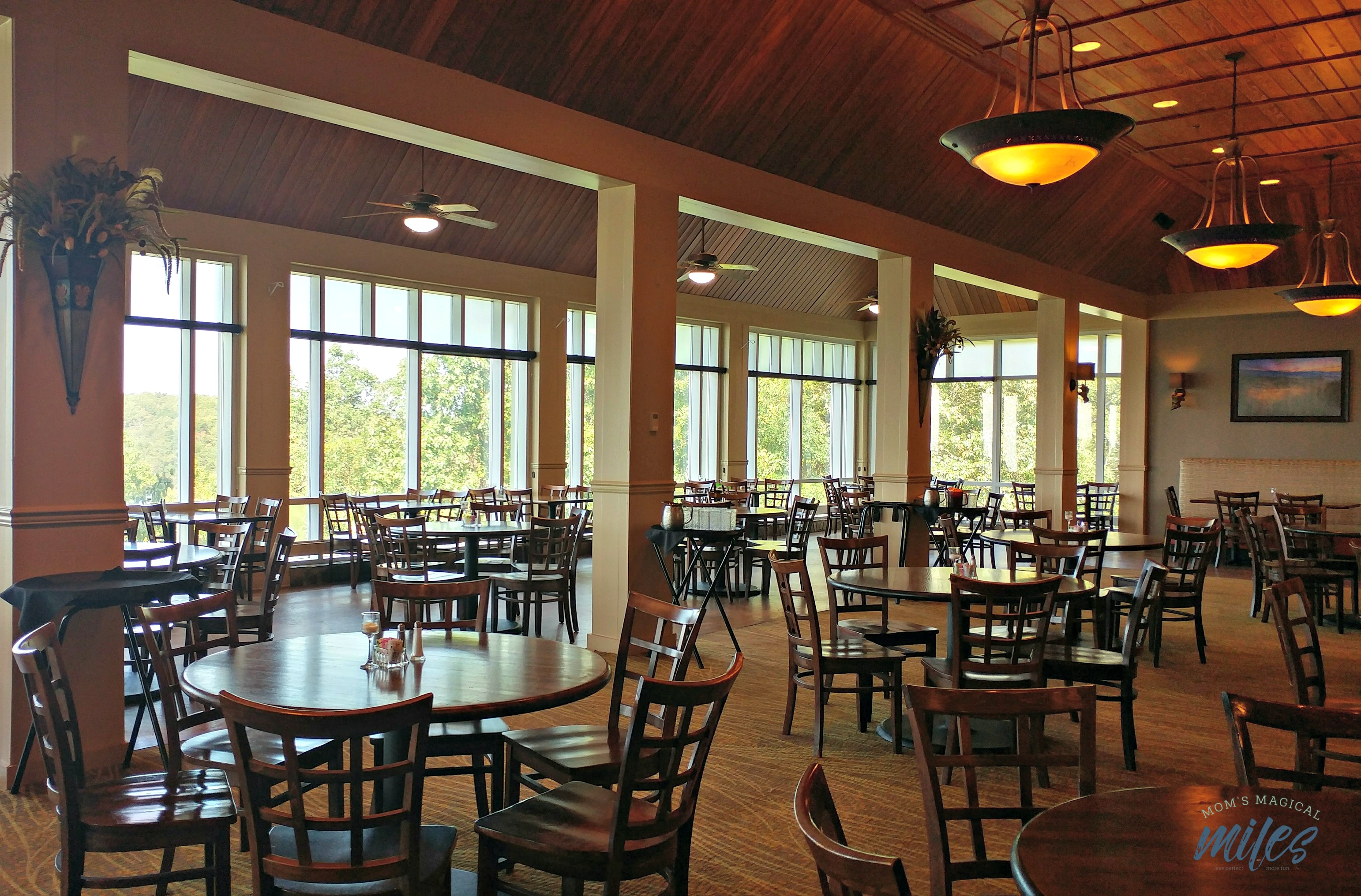 The newly remodeled dining room at the Amicalola Falls State Park Lodge is the perfect place to savor the view!