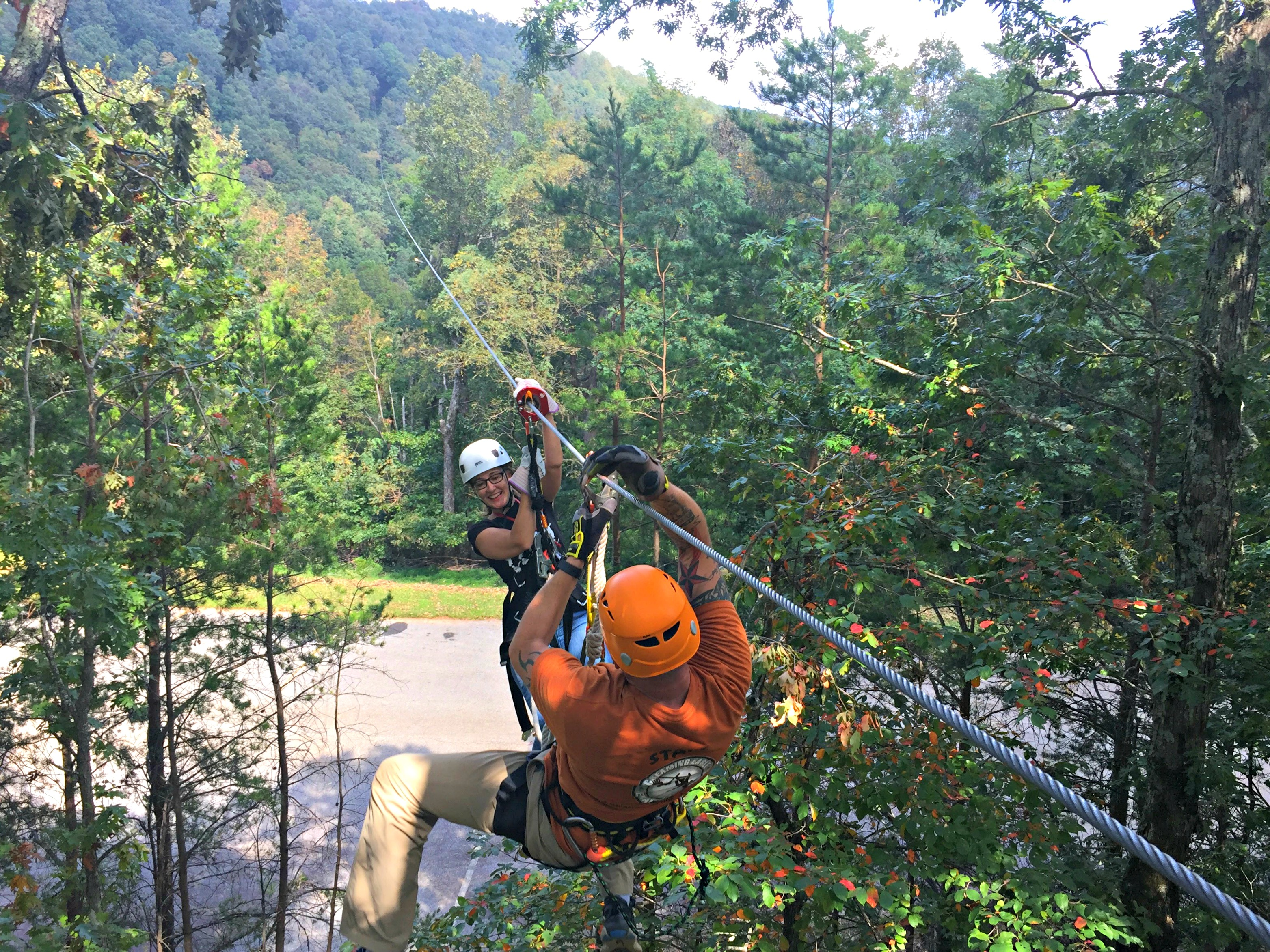 Worried about getting stuck on a zip? The guides at Amicalola Falls State Park zipline experience will get you where you need to go!