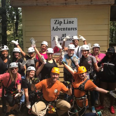 Our group really bonded at Amicalola Falls State Park zipline experience!
