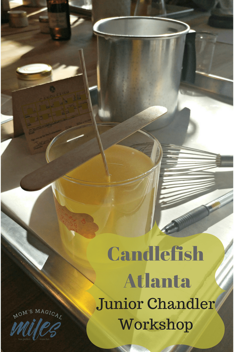 Got a crafty kid?  Take in a Candlefish Atlanta Junior Chandler Workshop!  They'll craft a beautiful scented candle like a pro.