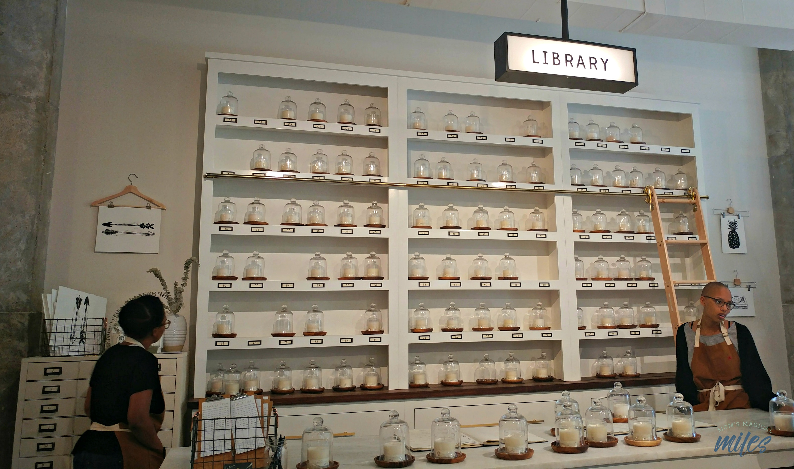 """The Library at Candlefish Atlanta offers a unique experience to choose your candle by """"fragrance family"""""""