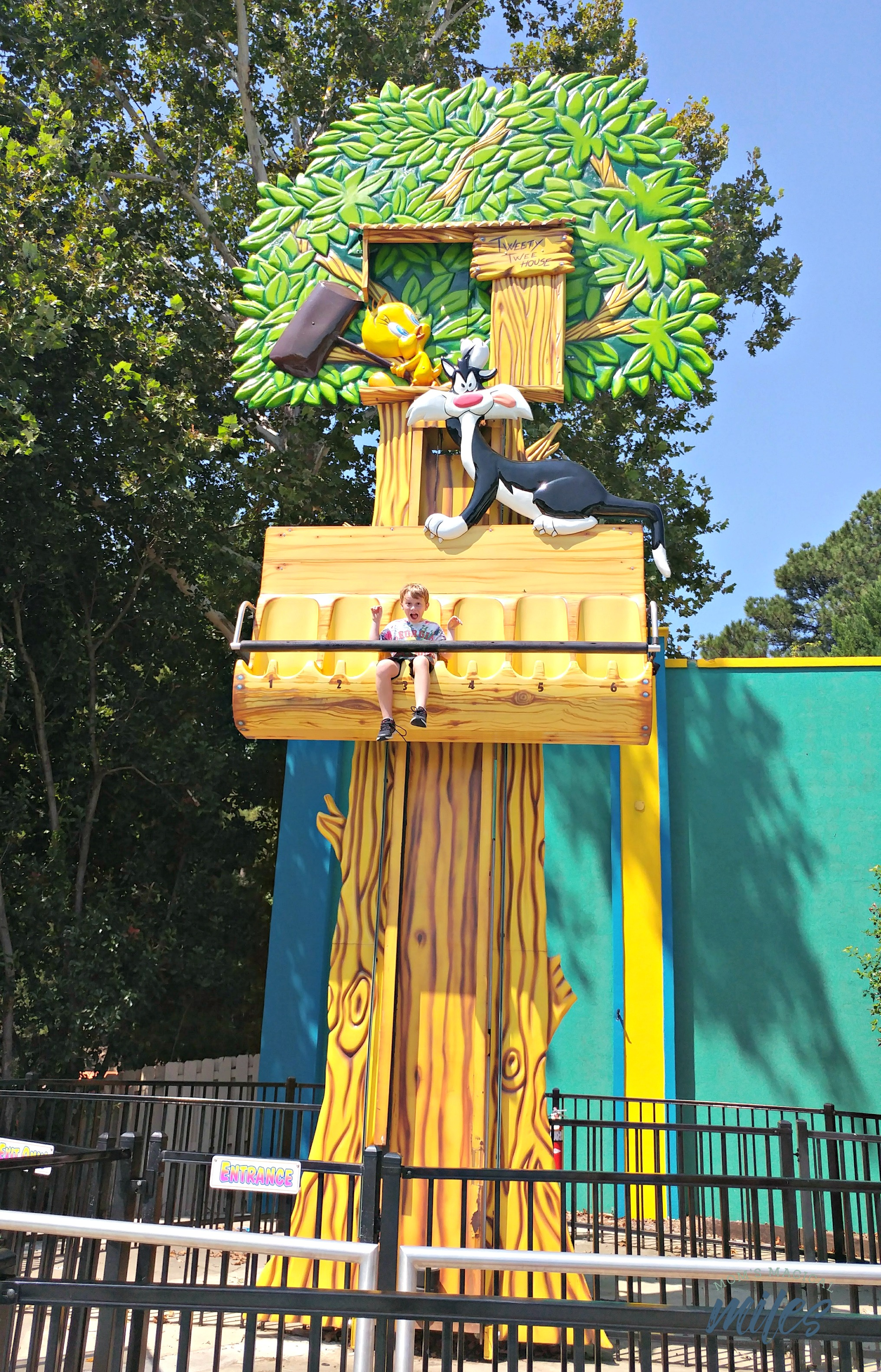Bugs Bunny Boomtown offers six different kid-friendly ride at Six Flags Over Georgia!