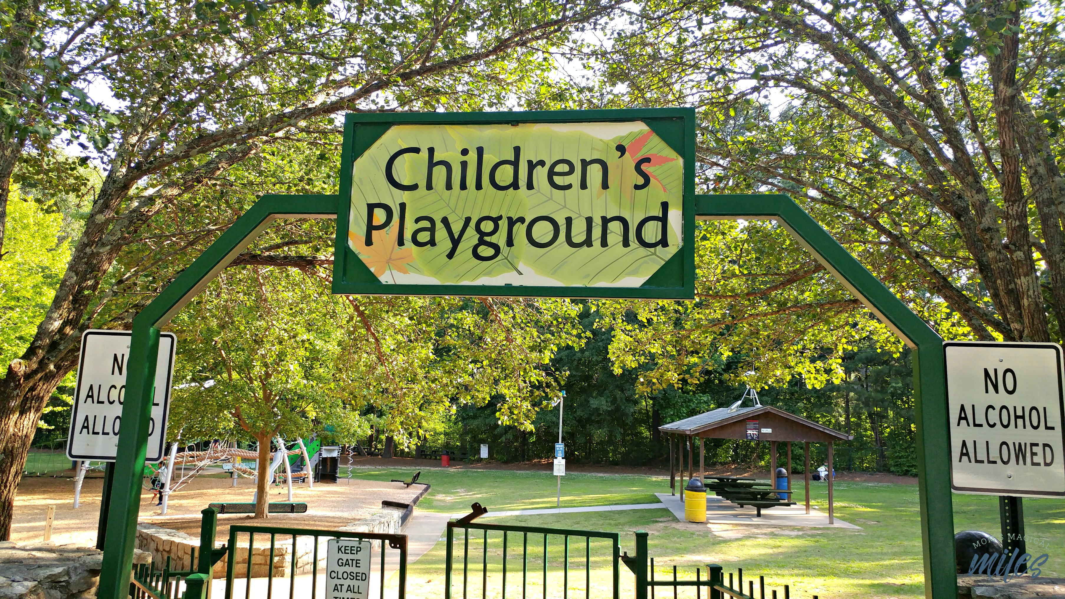 The Children's Playground at Stone Mountain Park is an oasis of old-fashioned fun!