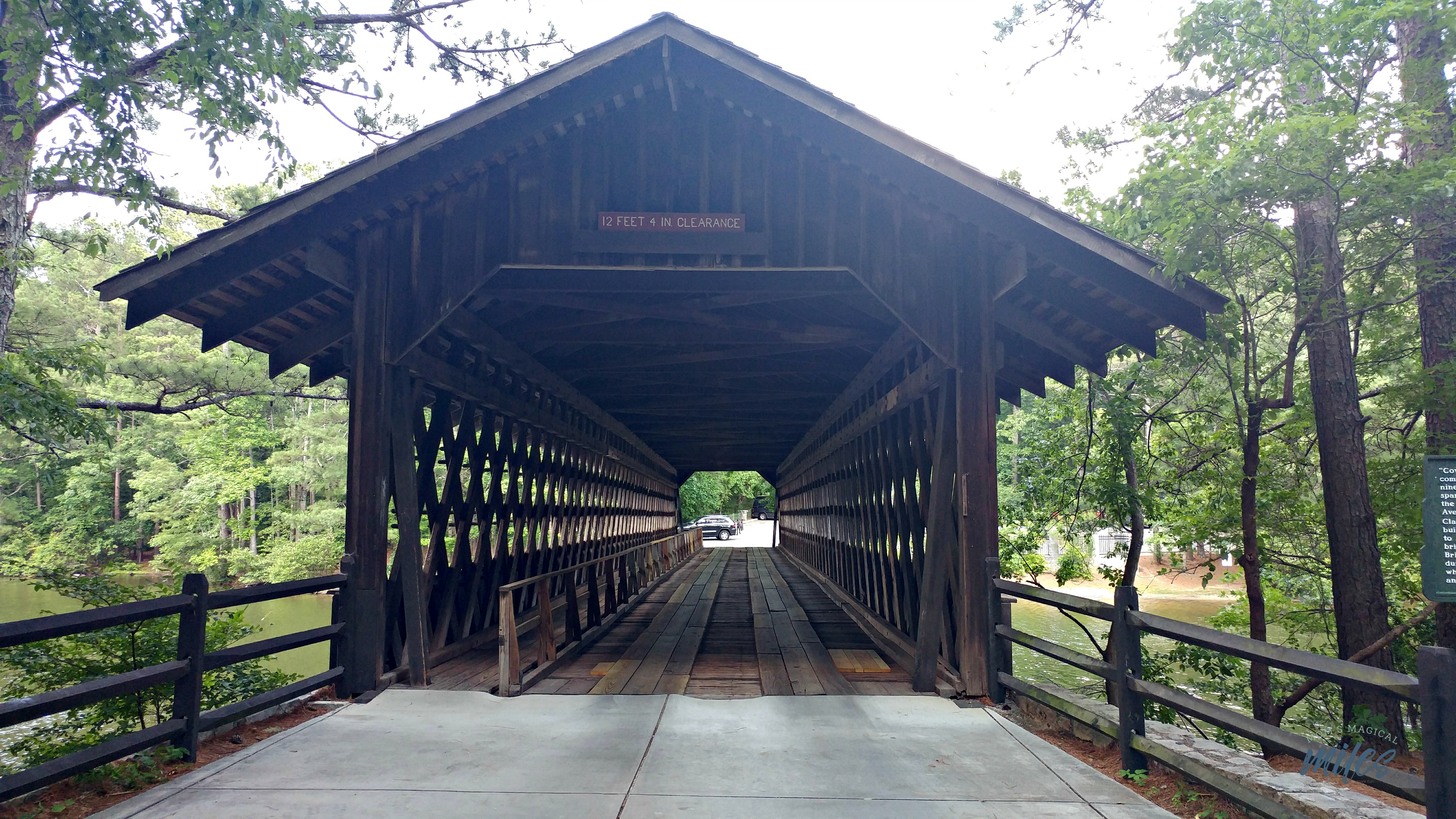 It's fun to go back in time and travel through the covered bridge at Stone Mountain Park!