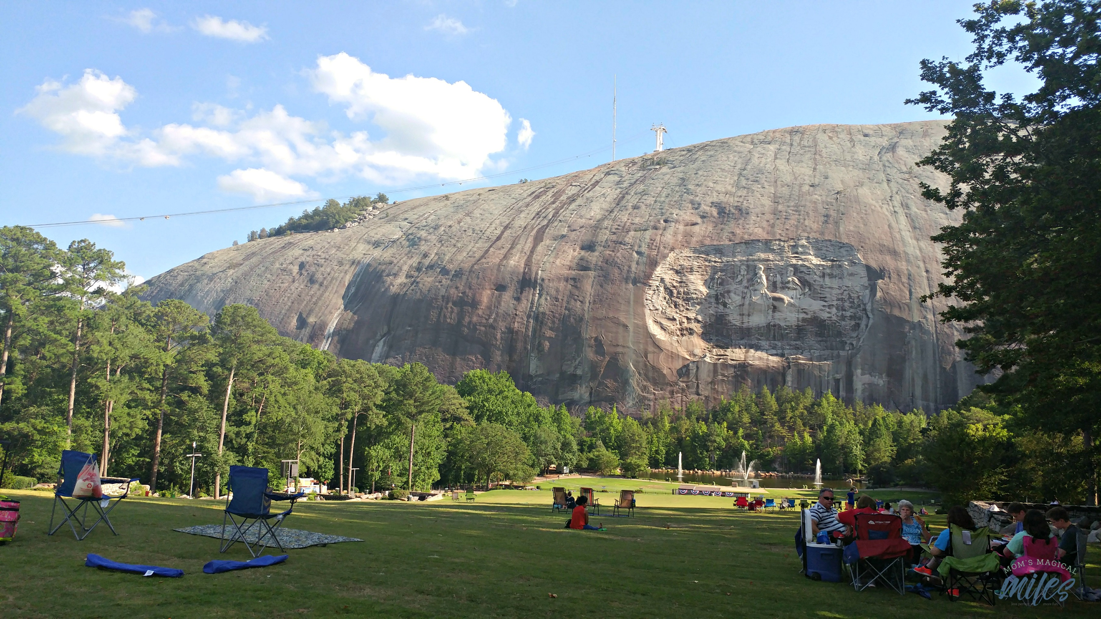 Spend some time relaxing on the Great Lawn at Stone Mountain Park and then take in the Laser Show!