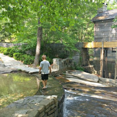 Playing at the Grist Mill is one of my favorite free things to do at Stone Mountain Park!