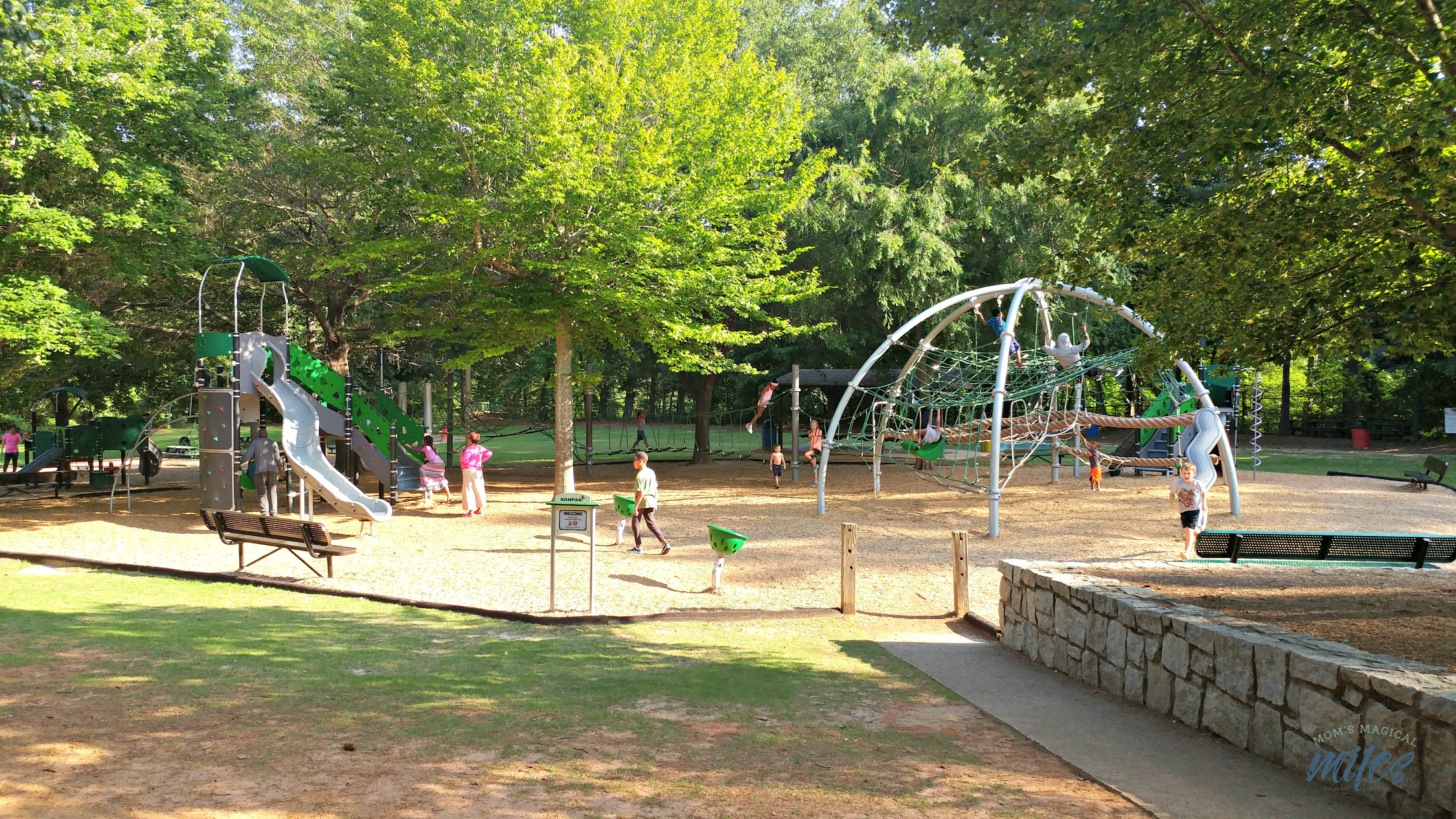 One of the most fun free things to do at Stone Mountain Park is the Children's Playground!