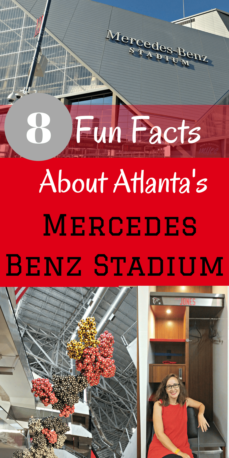 You don't have to be a football or soccer fan to appreciate the architecture, style and whimsy of the new Mercedes-Benz Stadium in Atlanta! You also don't have to be a VIP to get a tour. #MBStadium