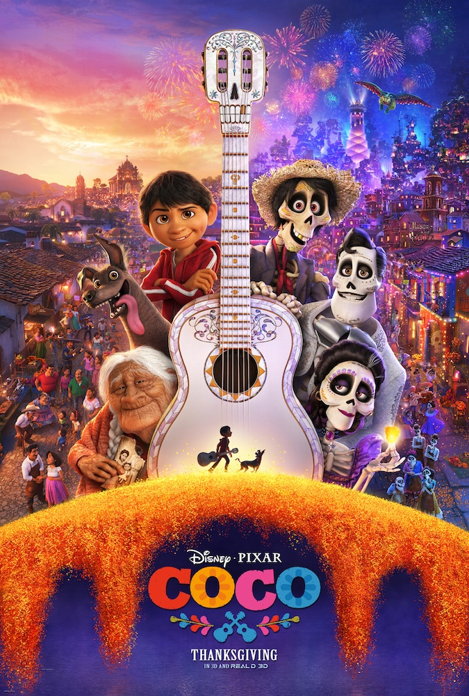 Coco is the newest movie from Disney Pixar and it's amazing! The story of Family First is paired with vibrant colors and music. This is definitely an outing for the entire family. #Coco